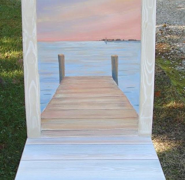 Latest Hand Painted Chair Design Underway