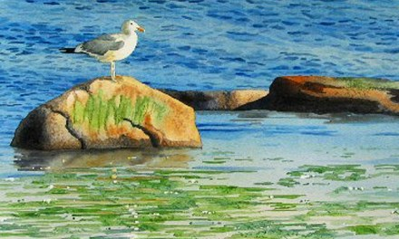 """""""Ebb Tide"""" Watercolor – Painting Textures In Watercolor"""