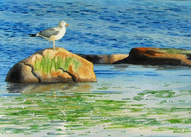 """Ebb Tide"" Watercolor – Painting Textures In Watercolor"