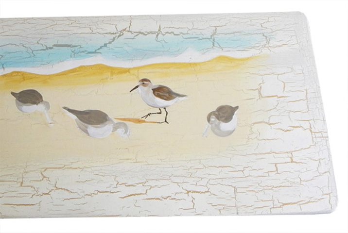 Painting Sandpiper Birds Running On the Beach – Second Step In Custom Cottage Furniture