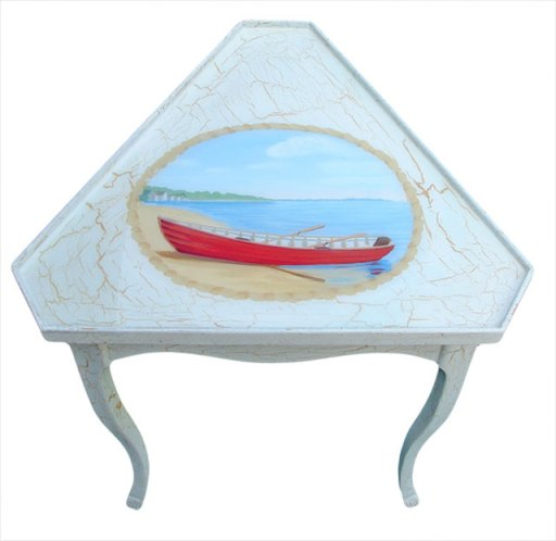 hand painted corner table