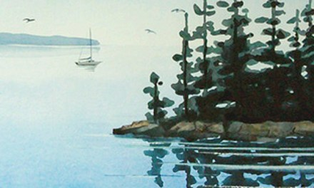 Easy Watercolor Relections – Recent Painting Class Demonstration