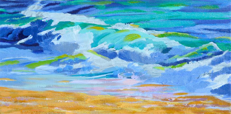 Starting Ocean Wave IV – New Painting In Breaking Ocean Wave Series