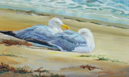 """Seagulls Resting After Storm"" Oil Painting Finished!"
