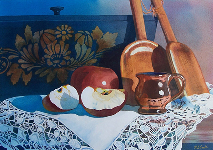"""""""Apples and Lace"""" Still Life"""