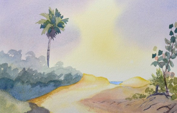 Paint a Soft, Glowing Sky In This Watercolor Video Tutorial