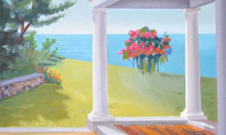 Flower Oil Painting-Landscape with Porch and Flowers Update
