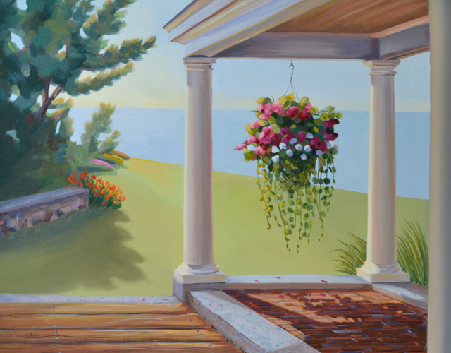 Painting of Flowers On a Porch