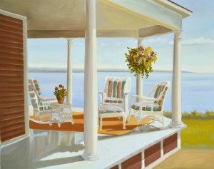 oil painting of porch