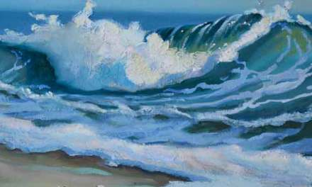 "New Wave Painting ""Emerald Wave"""