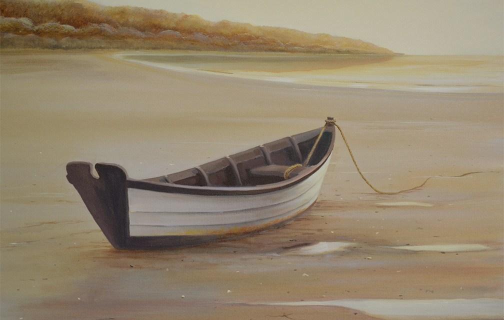 """Awaiting the Tide"" Original Marine Painting"