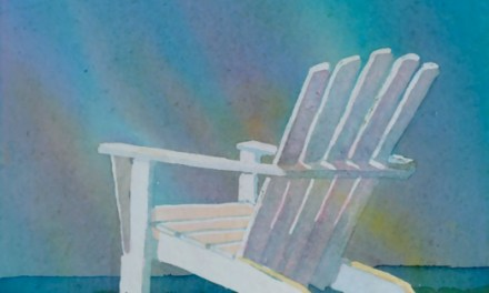 Colorful Painting Adirondack Chair Northern Lights