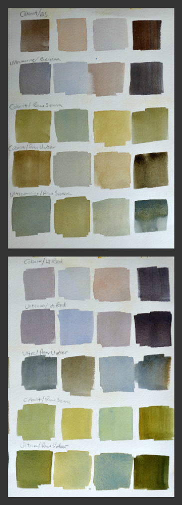watercolor color mixing tip