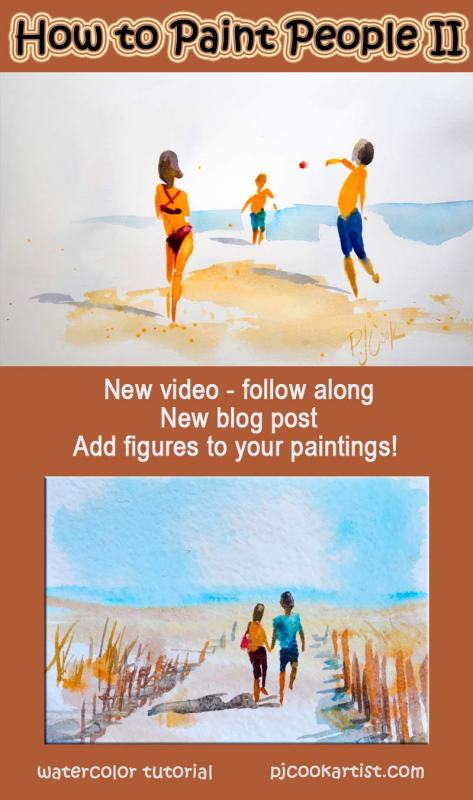 How to paint people watercolor tutorial