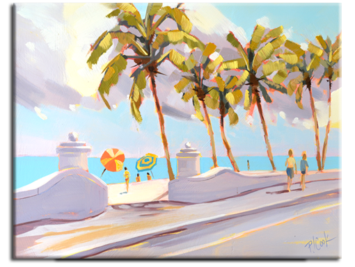 Fort Lauderdale Beach, 11x14 oil painting by PJ Cook.
