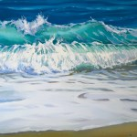 Sitting Still Ocean Wave Painting