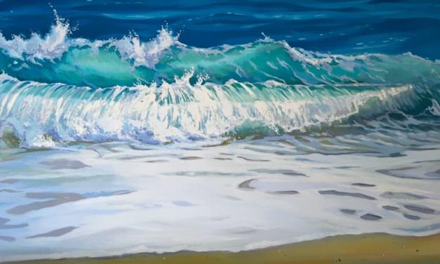 Sitting Still Ocean Wave Painting