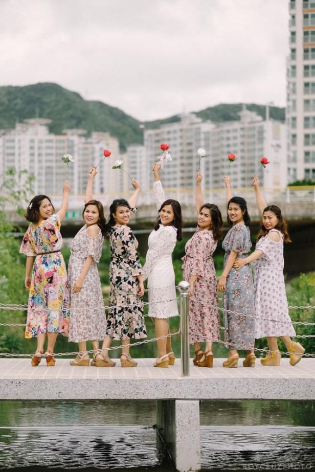 Busan South Korea Wedding Bridesmaids Portrait Photographer-15