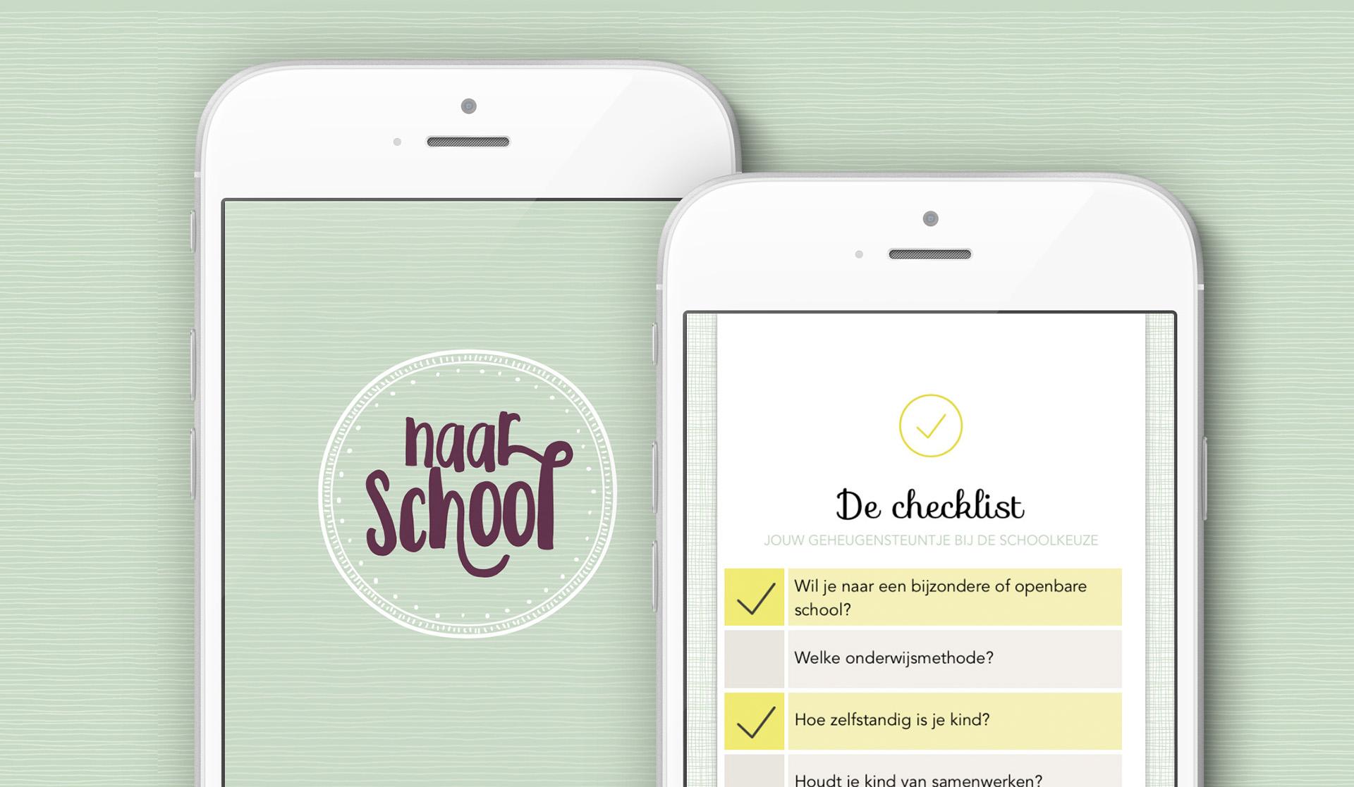 Naar-School app ontwikkeling