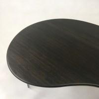 Black Mid Century Modern Coffee Table  Kidney Bean Shaped ...