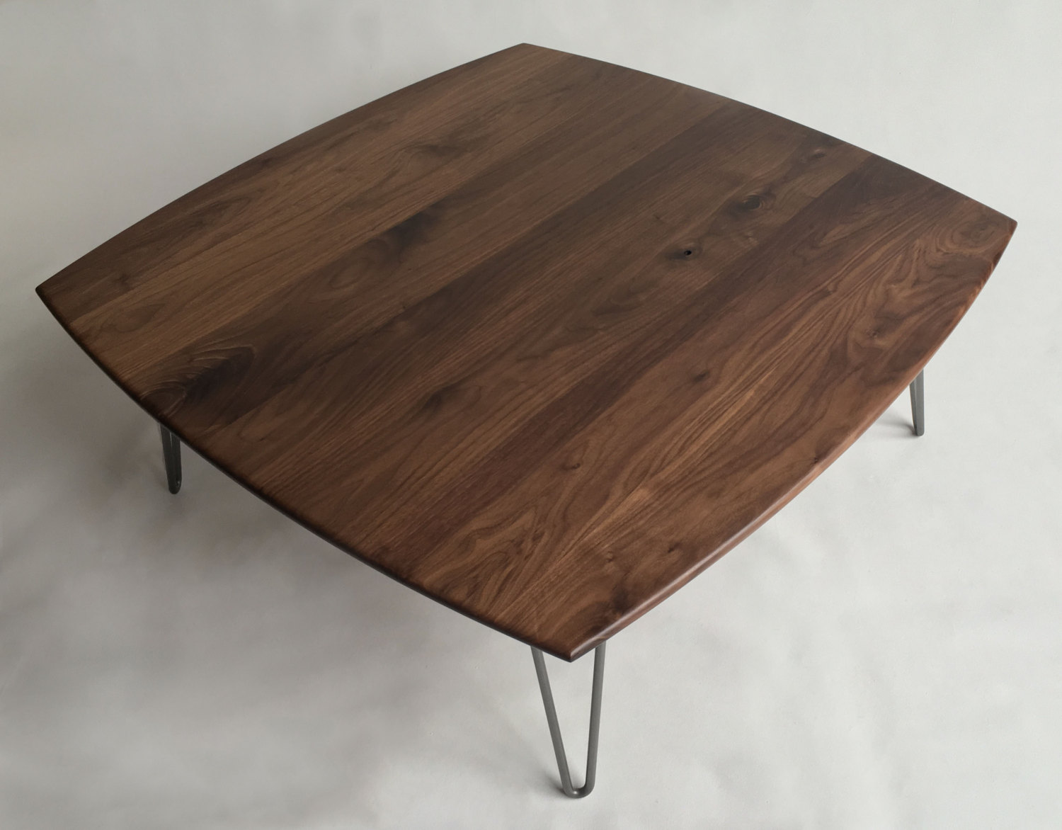 Solid Walnut Square Mid Century Modern Coffee Table