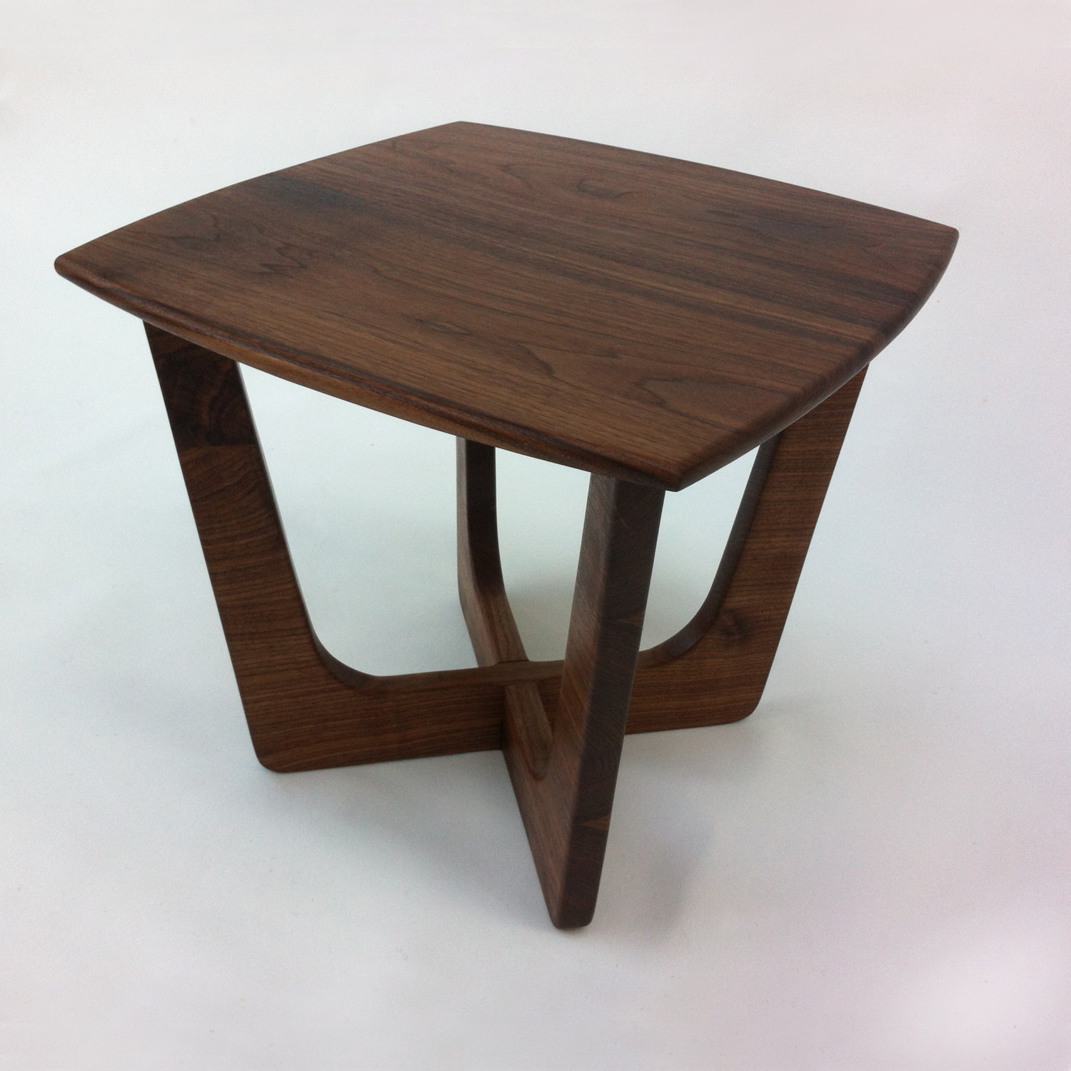 Square Mid Century Modern Solid Walnut Coffee Table