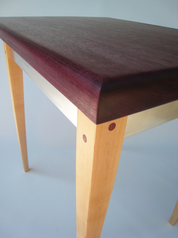 Outstanding Purple Heart Modern Side Table Interior Design Ideas Gresisoteloinfo