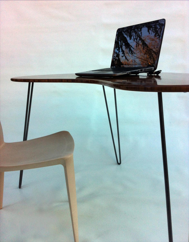 custom standing desk kidney shaped mid. Perfect Shaped Mid Century Modern Desk U2013 Kidney Bean  In Custom Standing Shaped