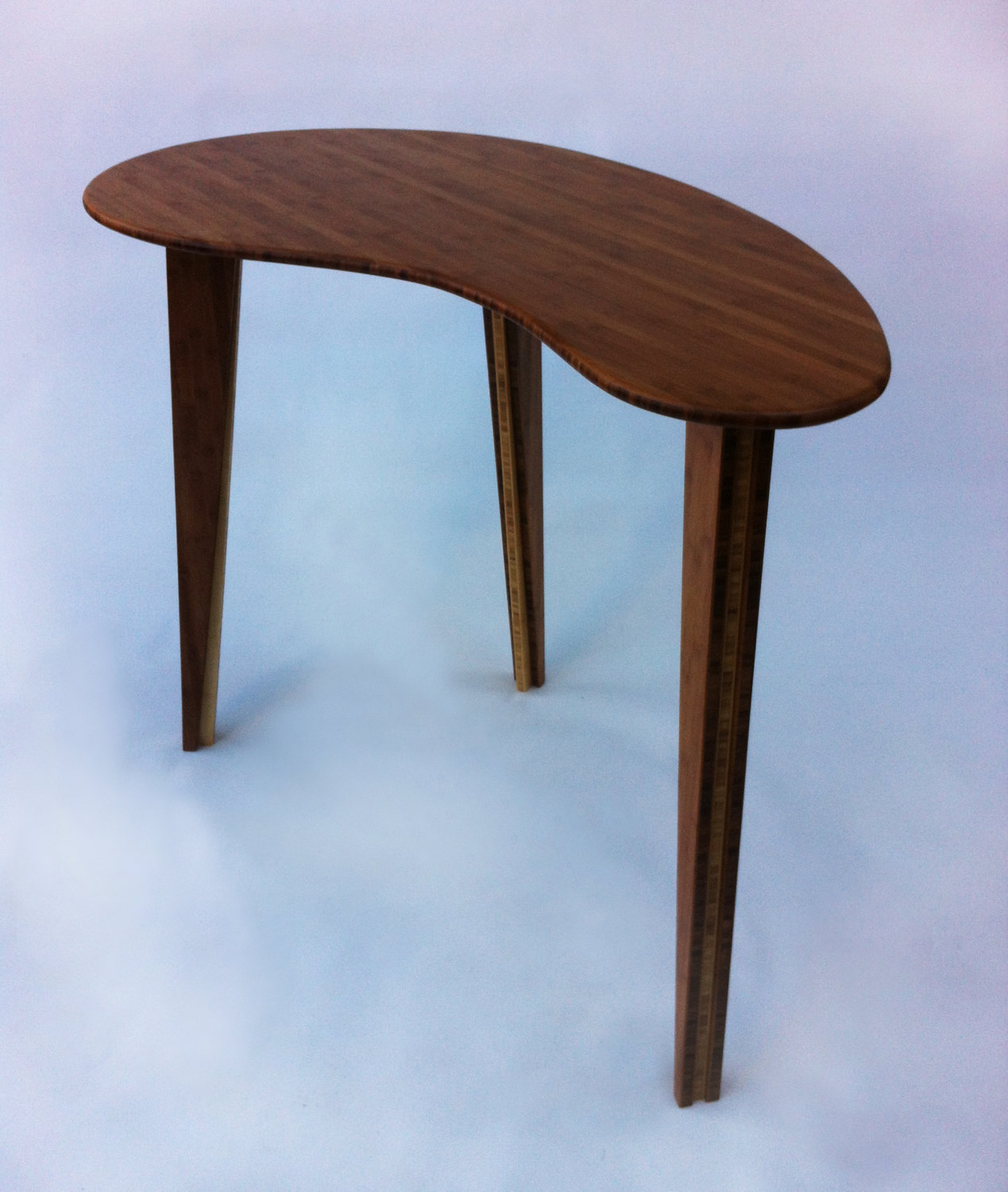 Standing Cafe Bar Top Bistro Table Tall Bamboo Kidney Bean - Standing cafe table