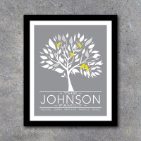 Personalized Family Tree Wall Art  Printable Custom