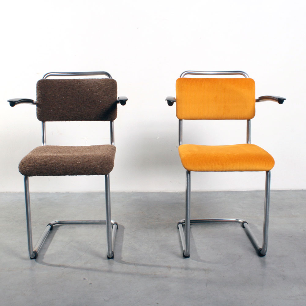 studio1900  Gispen 201 stoelen Dutch tubular chairs