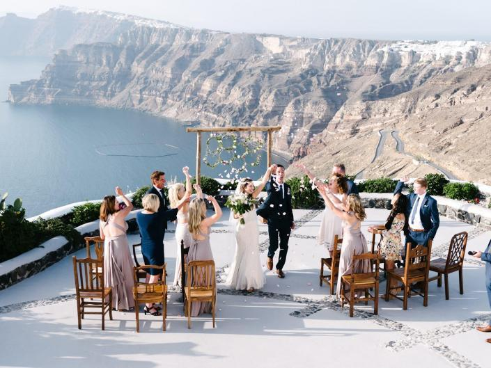 Stars / Elegant Wedding In Santorini