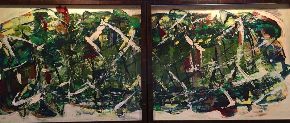 paintings:Peru Diptych Panels