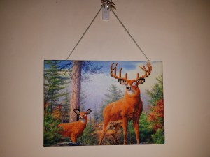 Deer Diamond Painting Embroidery Kit Completed