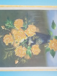 Yellow Roses Diamond Painting Kit Completed