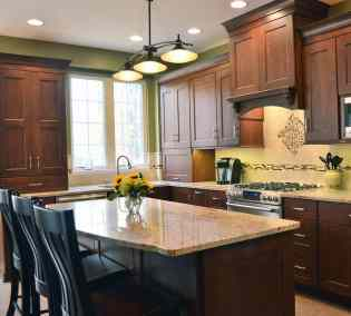 Traditional Kitchen, stained cherry