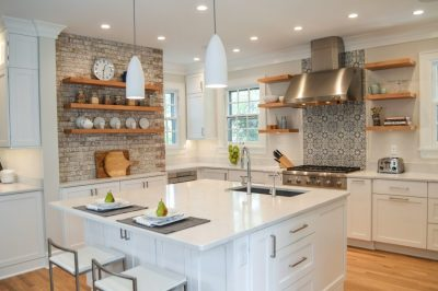 White kitchen with texture