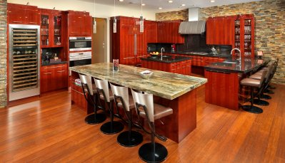Luxurious contemporary style kitchen design with NEFF cabinetry and luxury appliances