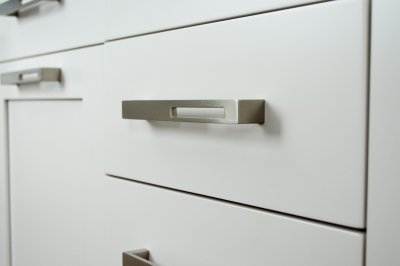 drawer pull with cutout