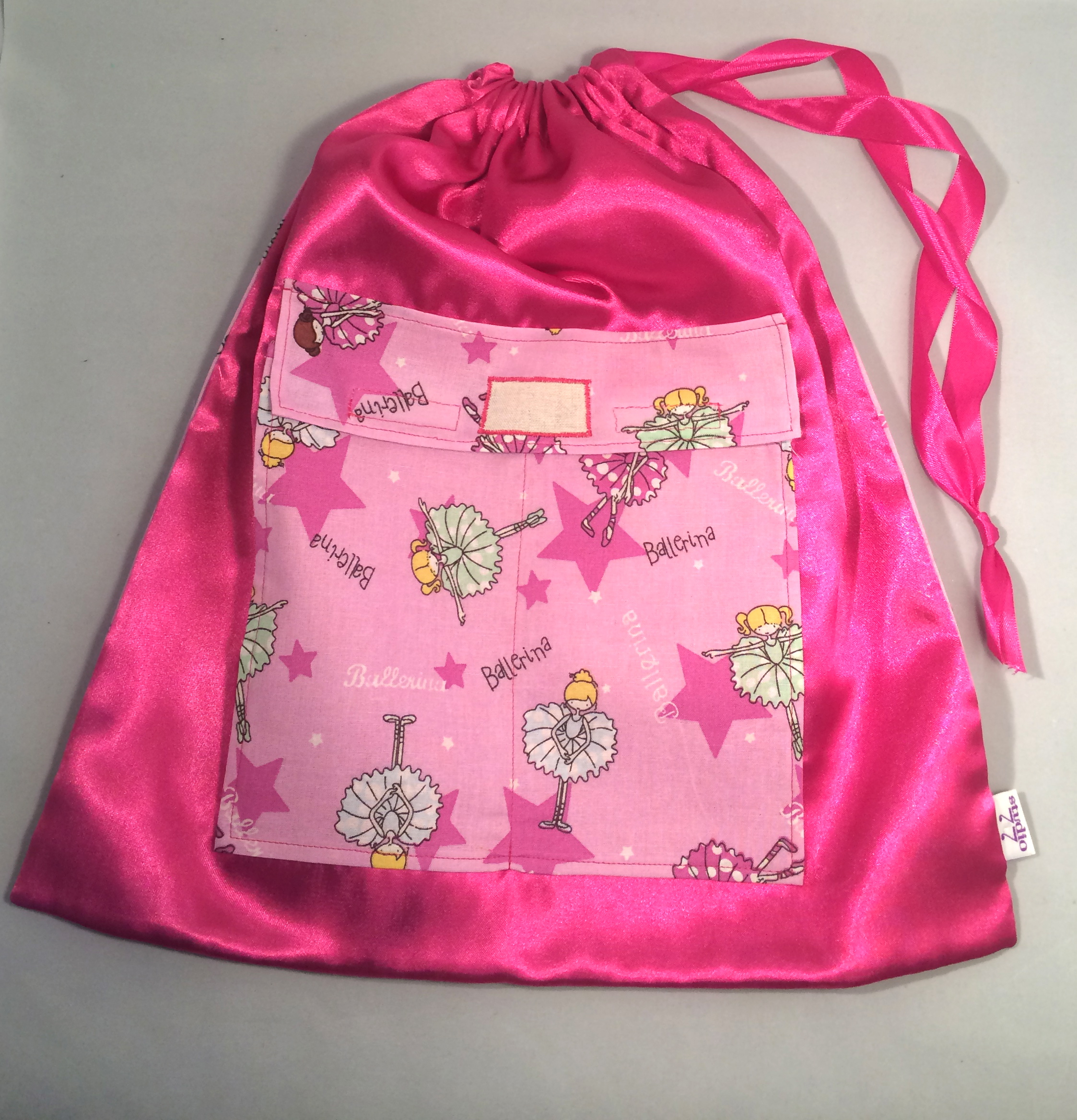 Ballet bag – bright pink ballerinas