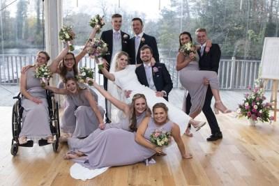 Wet wedding day at Thronton Manor
