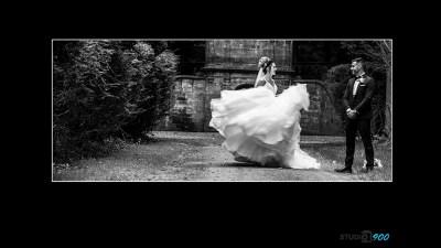 wedding dress swirl