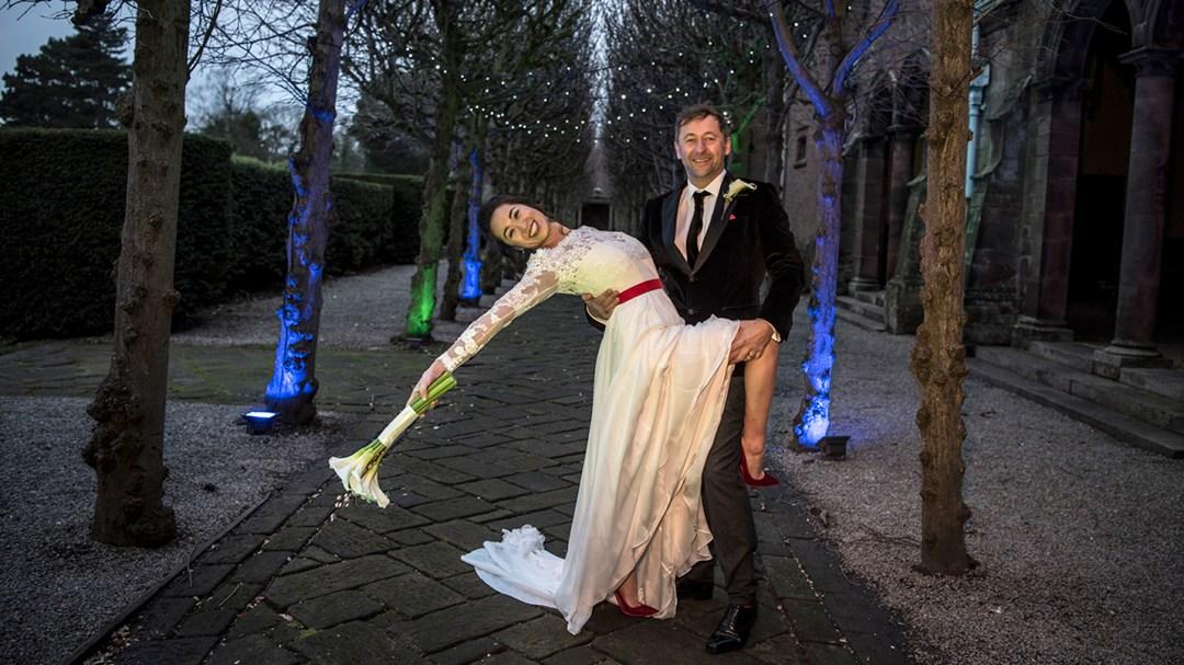 bride strikes a great pose