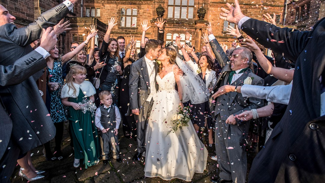 confetti shoot at country house