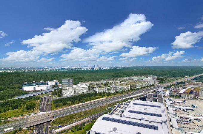 3D Bird's Eye View - Gateway Gardens - Airport Frankfurt
