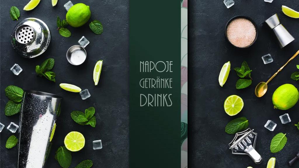 projekt karty napojów