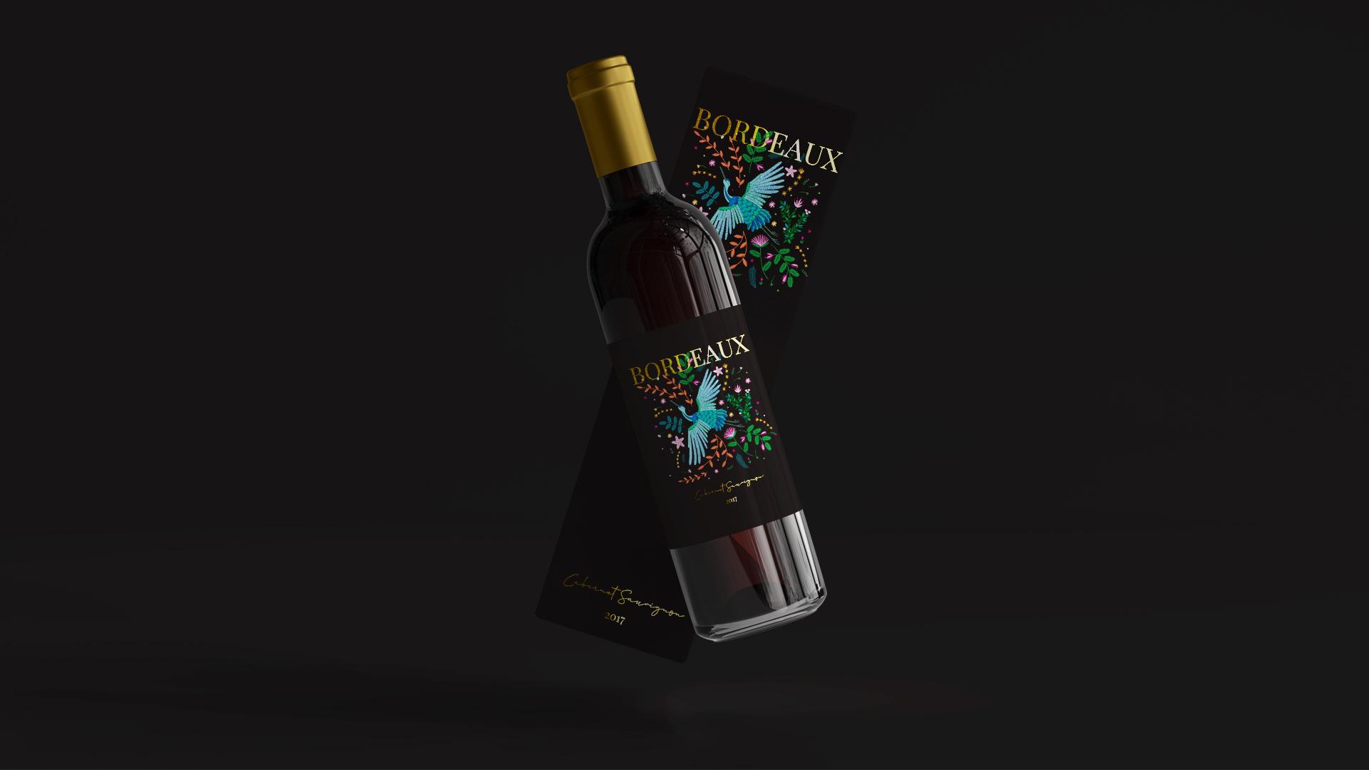 projekt etykieta na wino
