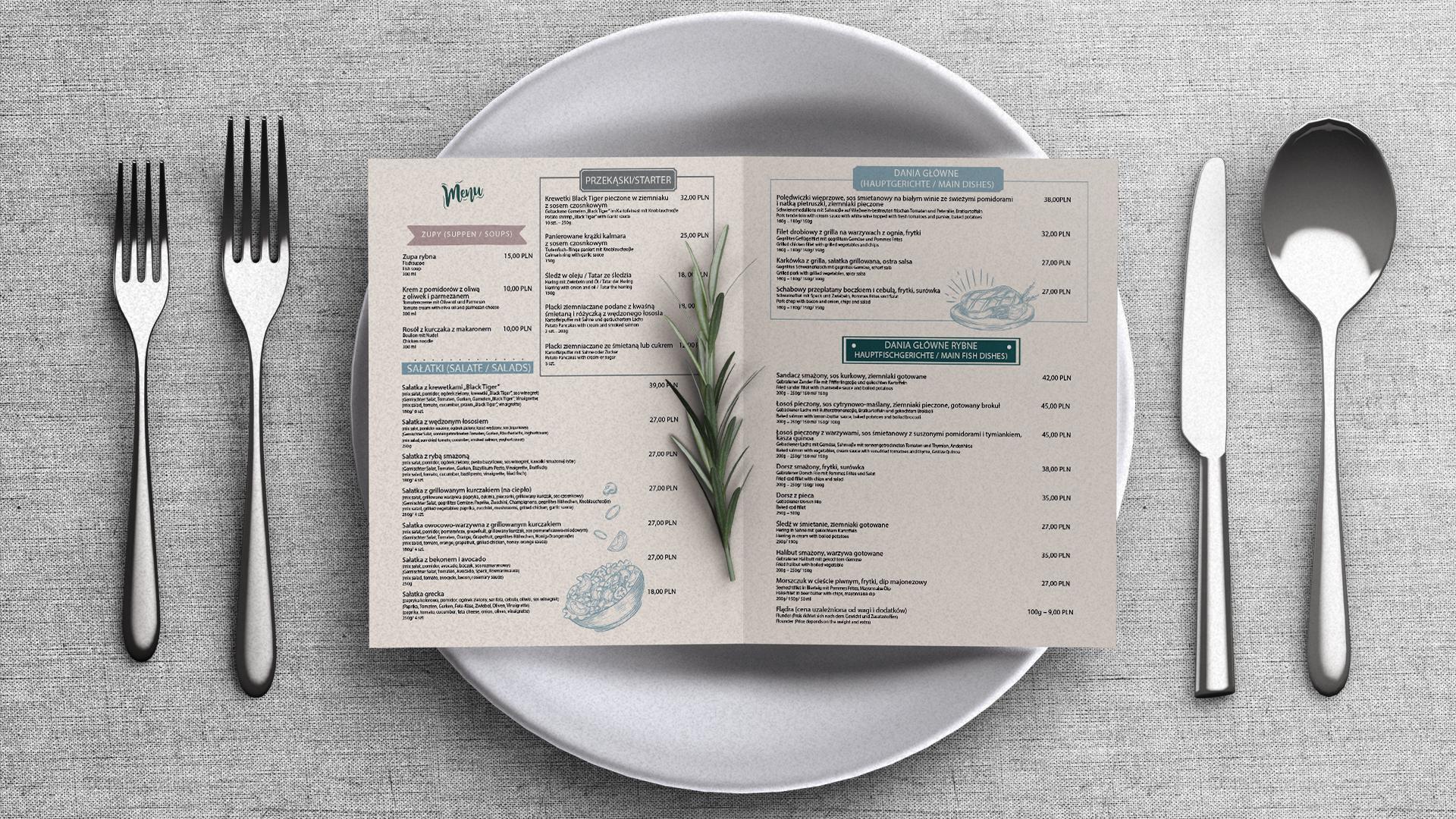 drukowanie kart menu