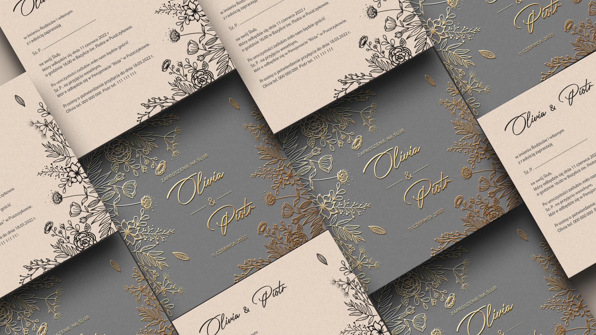 zaproszenia ślubne projekty