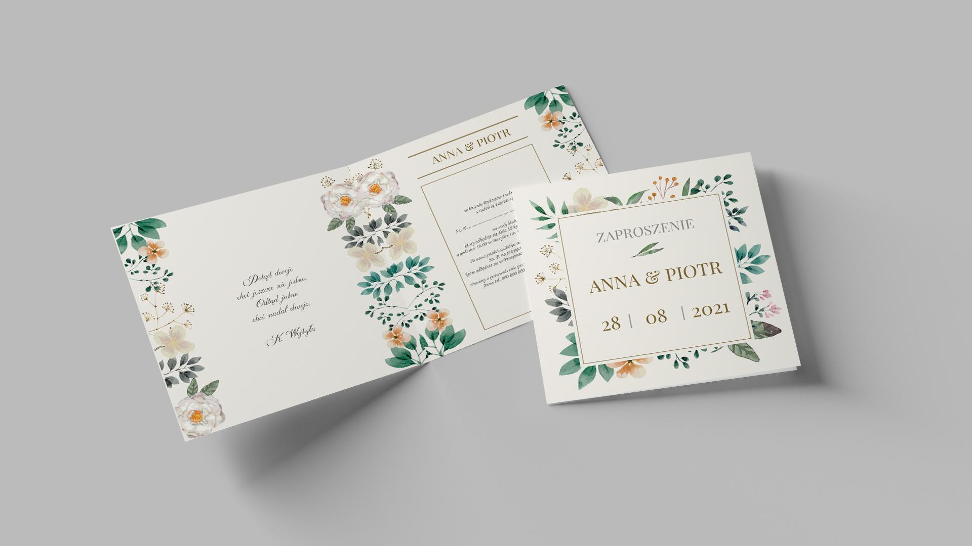 projektowanie zaproszeń ślubnych
